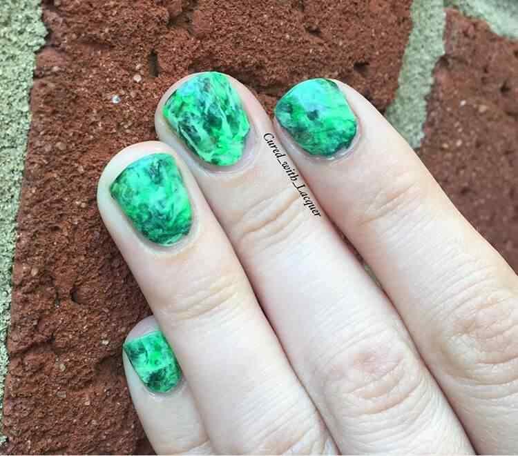 uñas verdes abstracto
