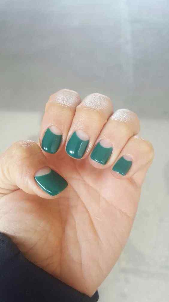 uñas verdes faciles