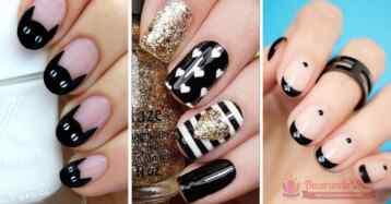 80 Diseñps de uñas decoradas en color negro
