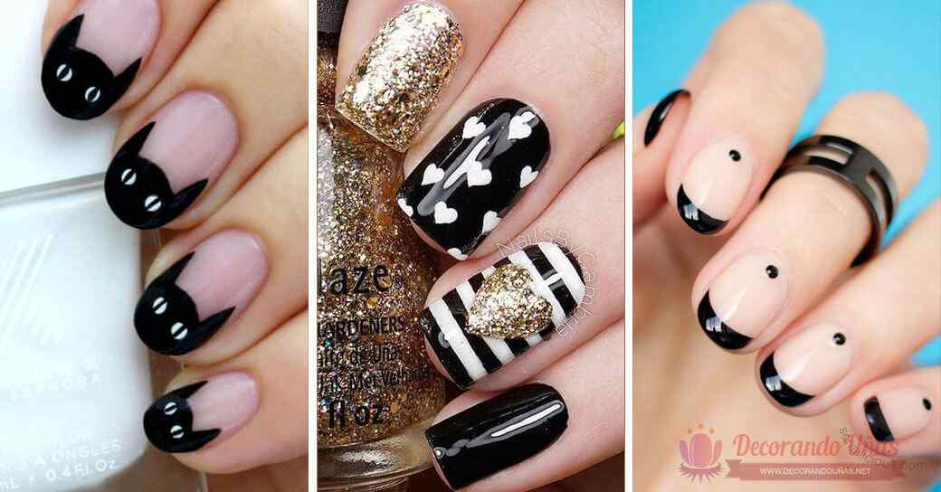 80 Diseñps de uñas decoradas en color negro