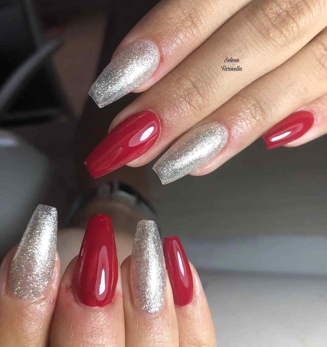 alternado de rojo y plata