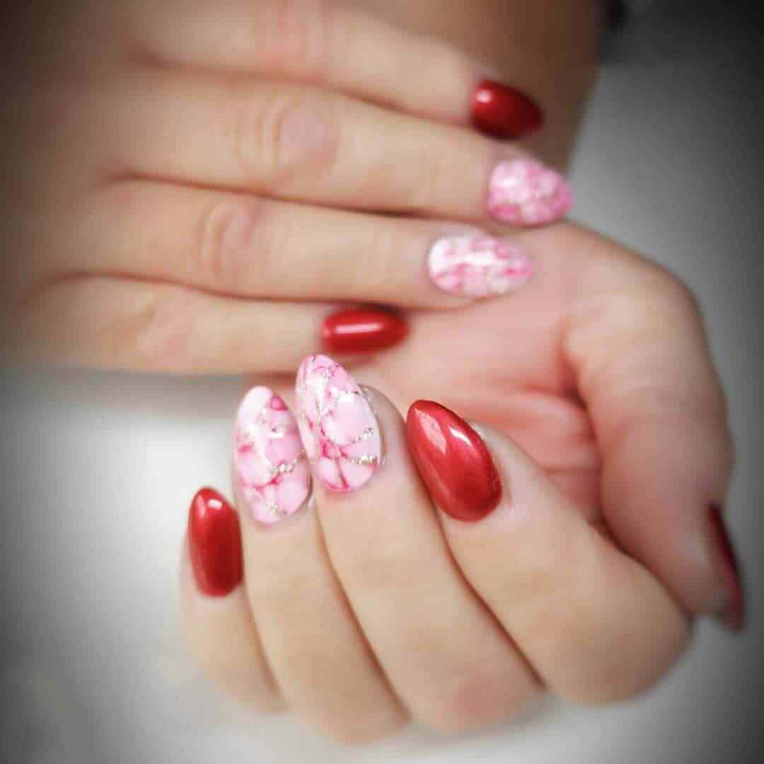 combinacion de rosa y rojo