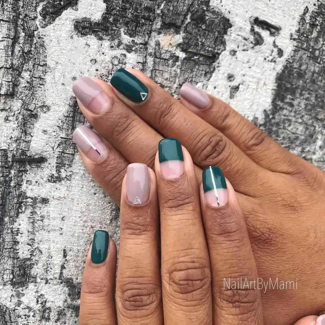 diseño de uñas con cinta