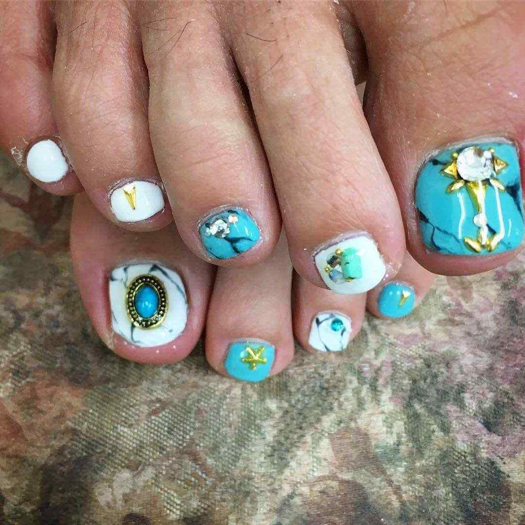 170 dise os de u as para los pies u as decoradas nail art for Disenos de unas