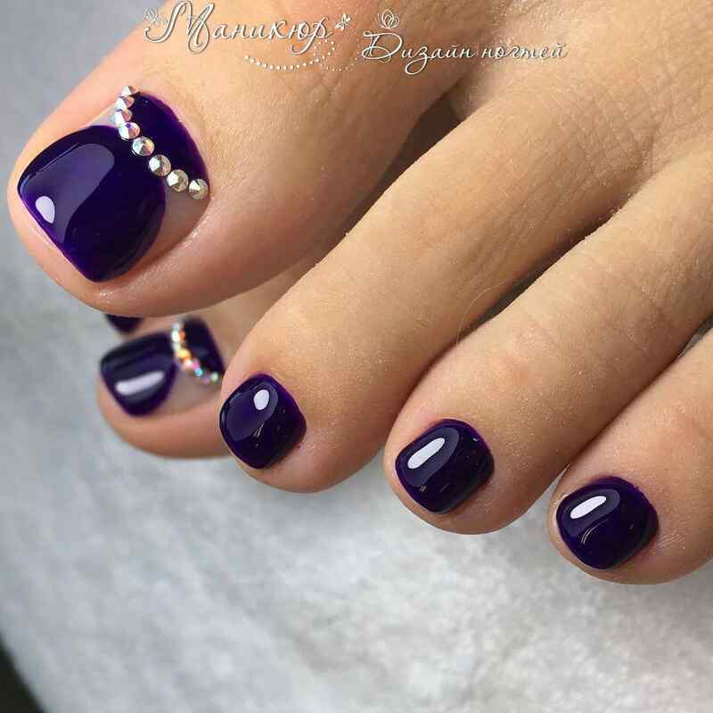 en color violeta