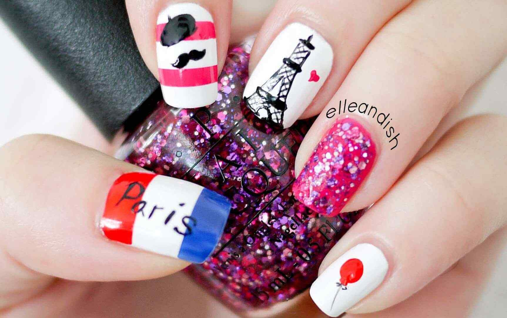 Uñas decoradas estilo paris!