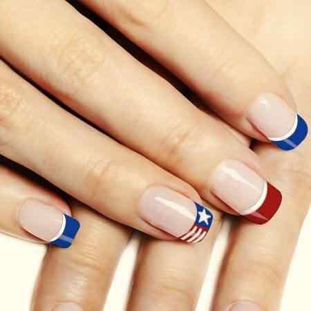 Más de 50 Uñas decoradas del 4 de Julio, día de la independencia de EEUU - 4th of july nail art 1