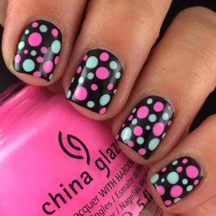uñas negras para niñas