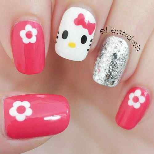 uñas para niñas decoradas hello kitty