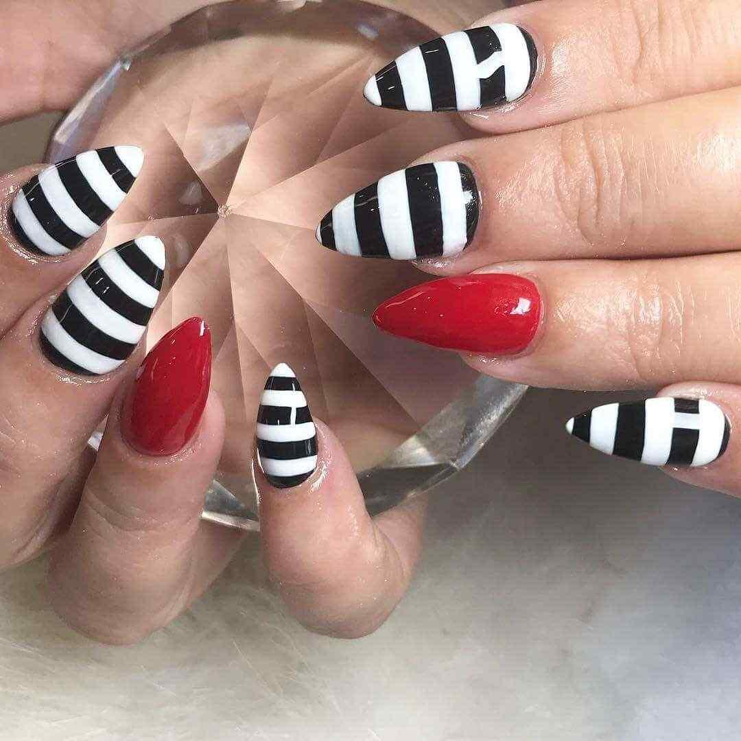 uñas bonitas de zebra