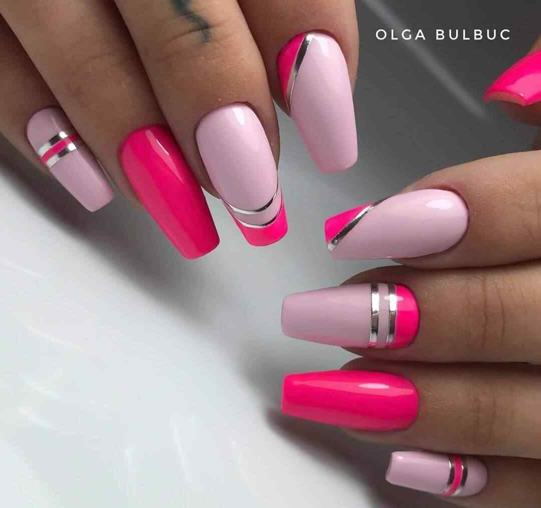 combinadas en dos tonos de rosa