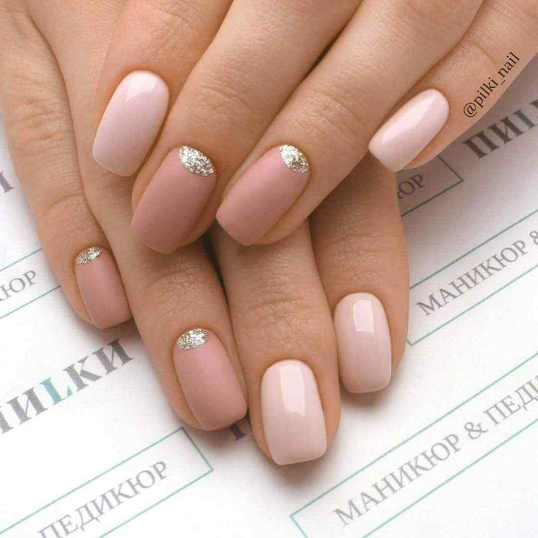 decoracion de uñas rosa palo