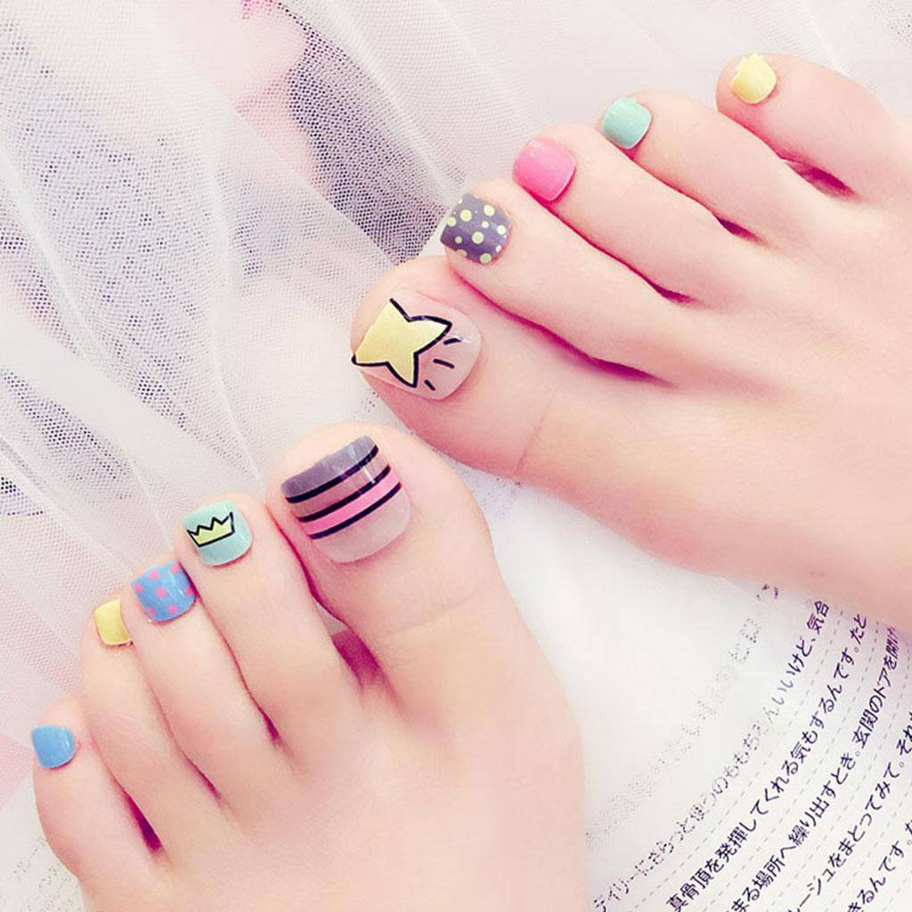 decoracion uñas para niñas pies