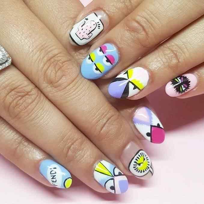diseño de uñas angry birds
