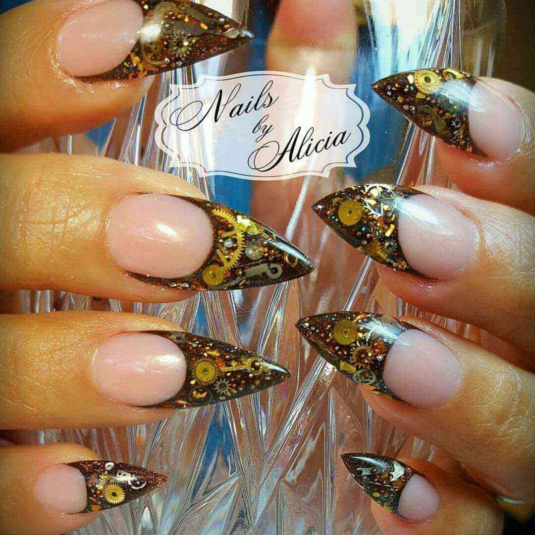 diseños de uñas acrílicas 2017