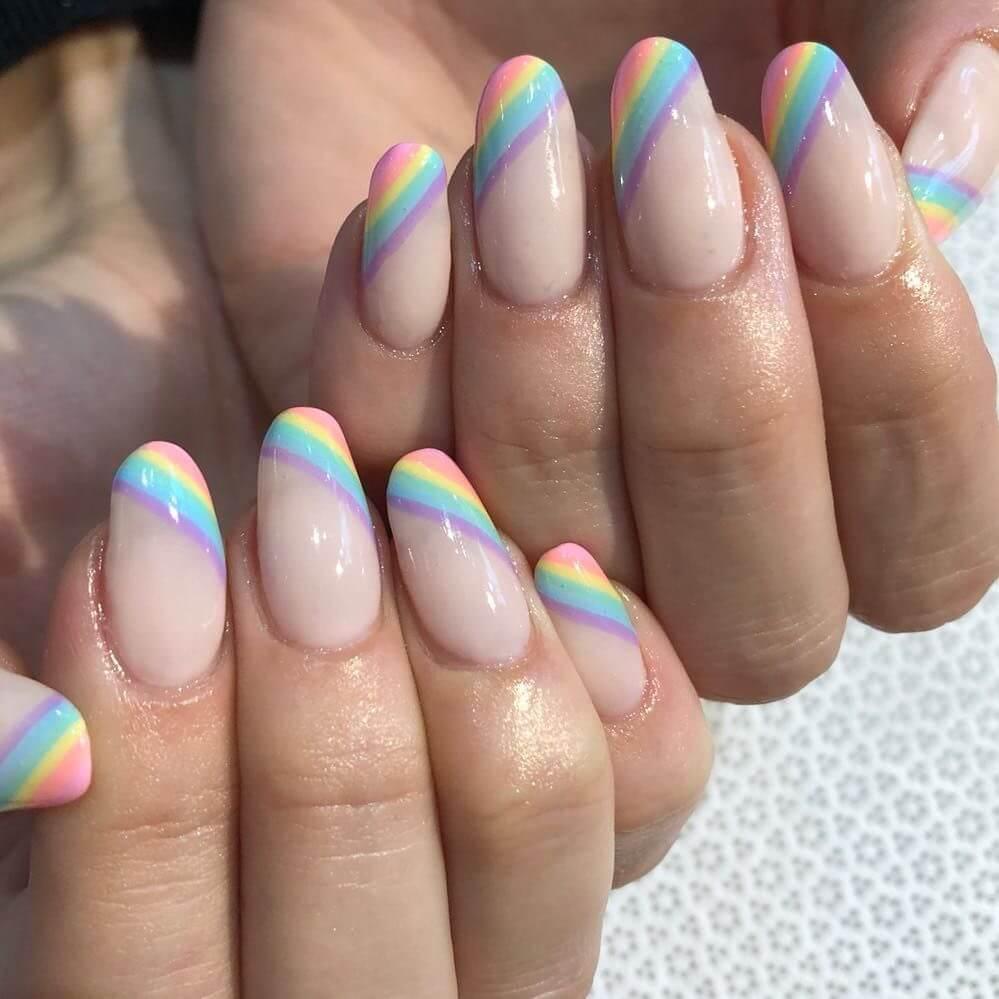 uñas arcoiris para niñas