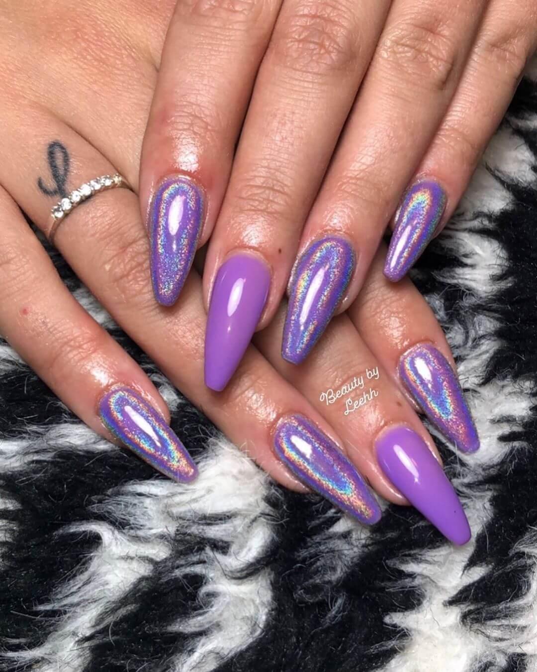 Uñas Color Morado Violeta O Púrpura 2020 Más De 80