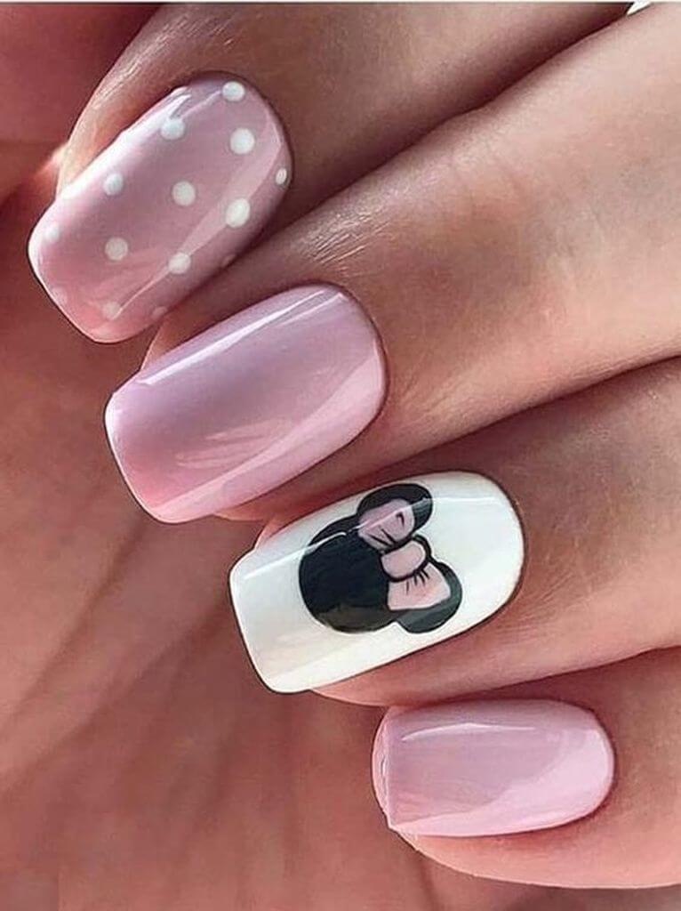 uñas de minnie mouse para niñas