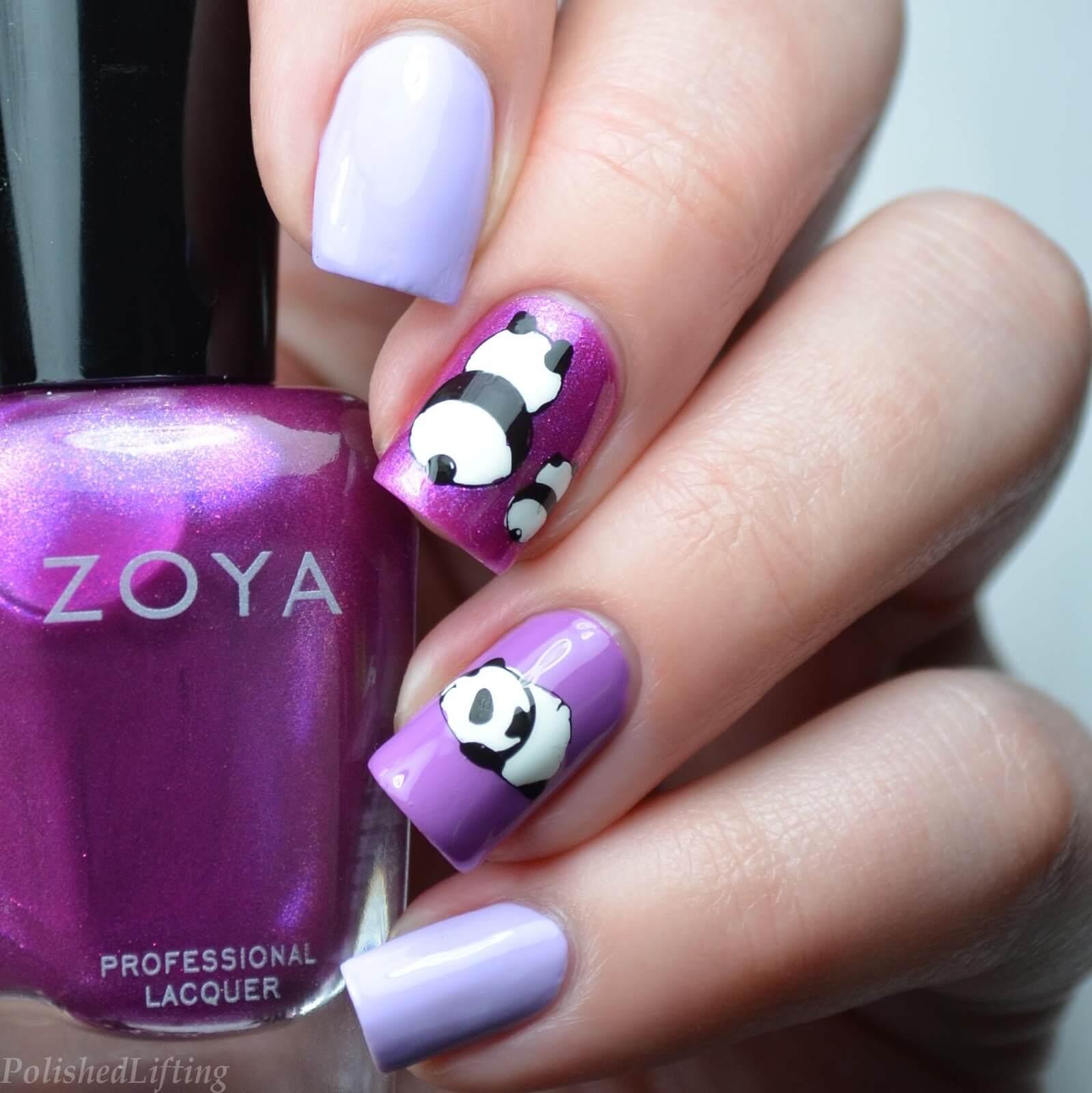 uñas de panda para niñas