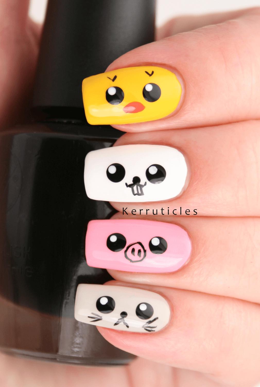 uñas para niñas con animalitos