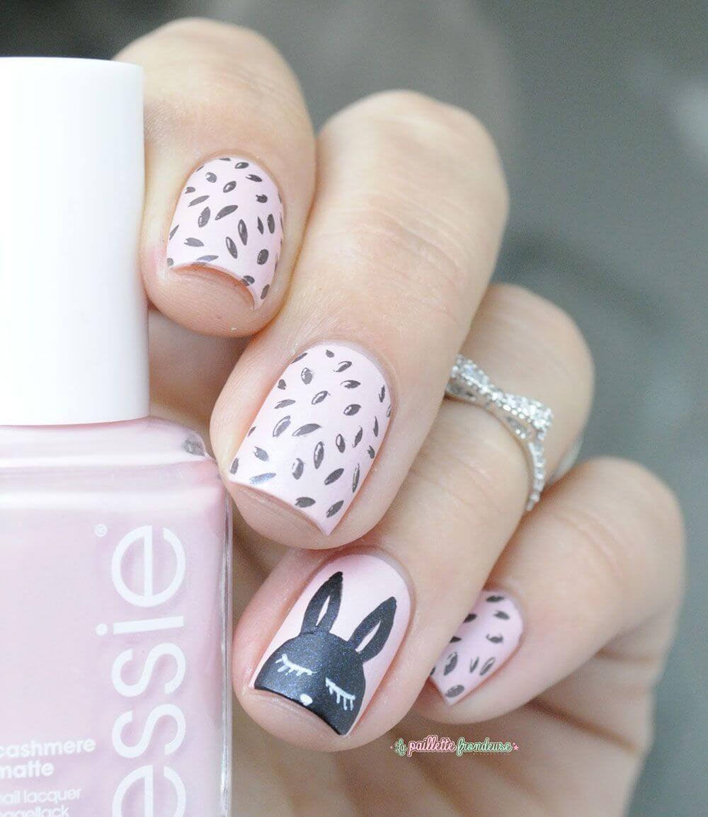 uñas para niñas decoradas con conejo
