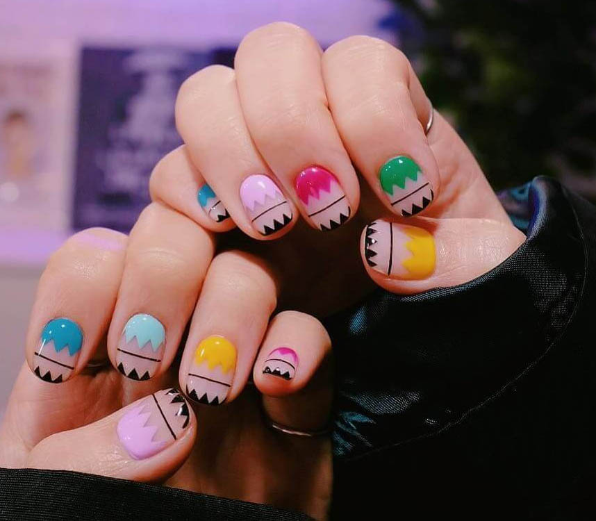 uñas para niñas faciles de pintar