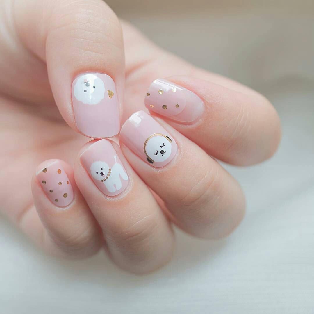 uñas para niñas perrito