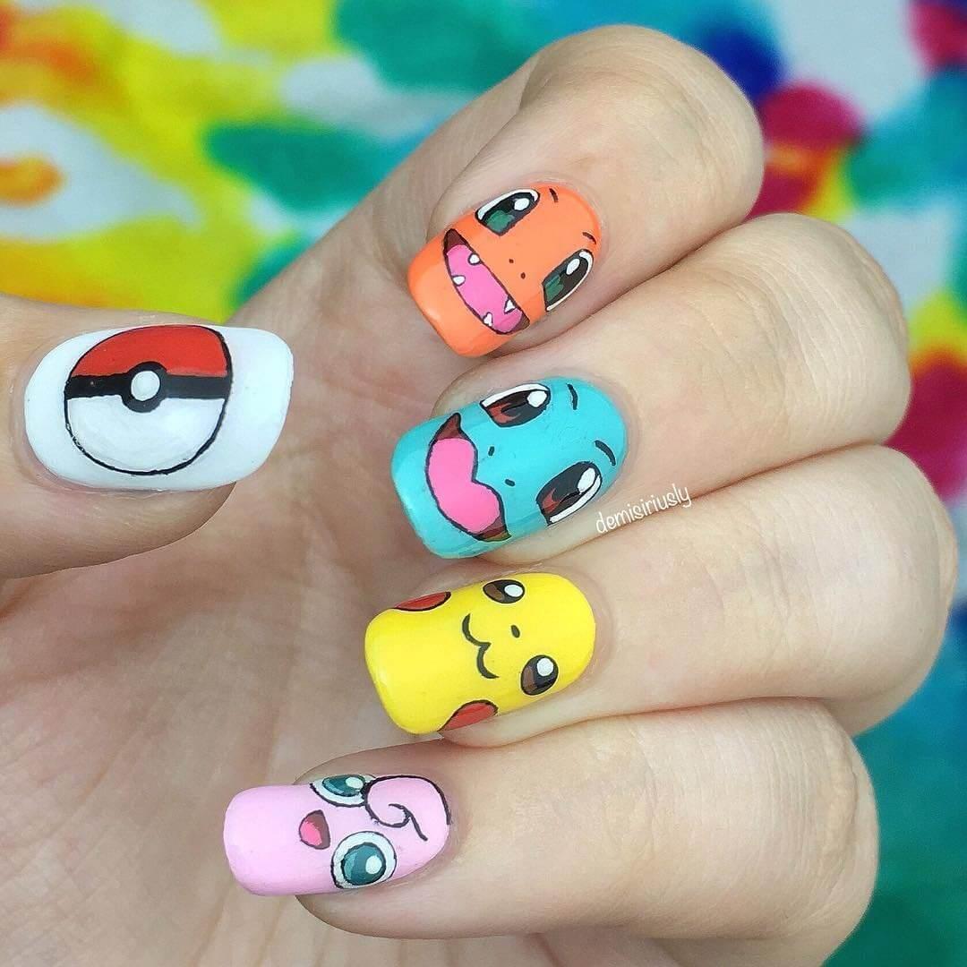 uñas para niñas pokemon