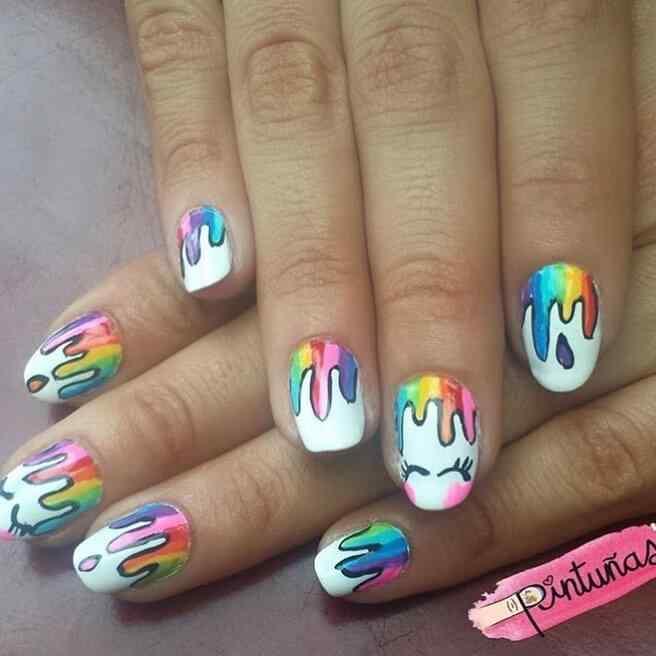 uñas decoradas para niñas