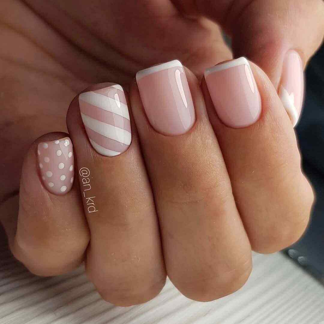uñas francesas rosa palo