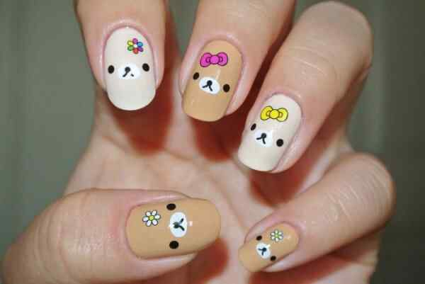 uñas kawaii perritos