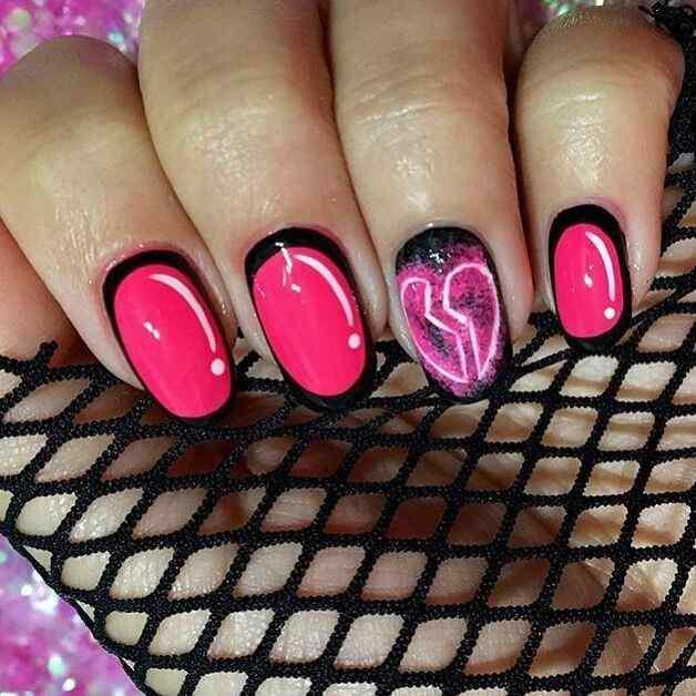 uñas para niñas corazones
