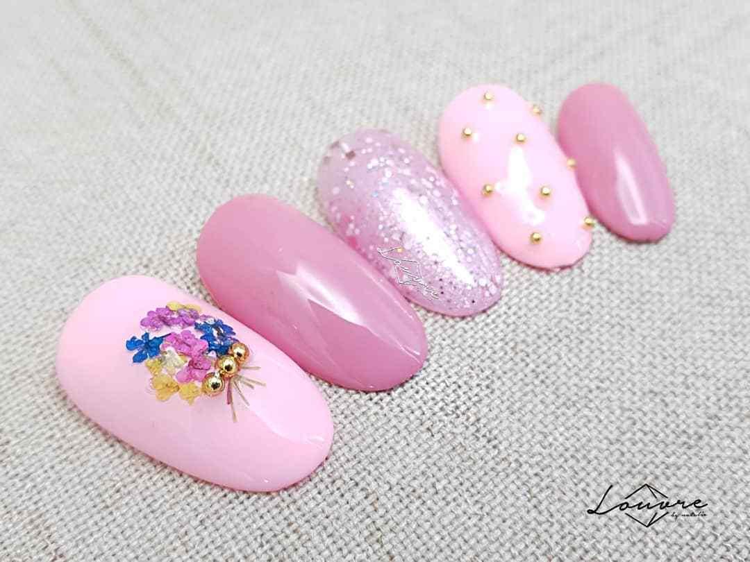 uñas postizas color rosa