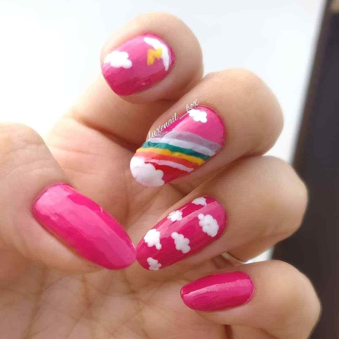 uñas rosa para niñas