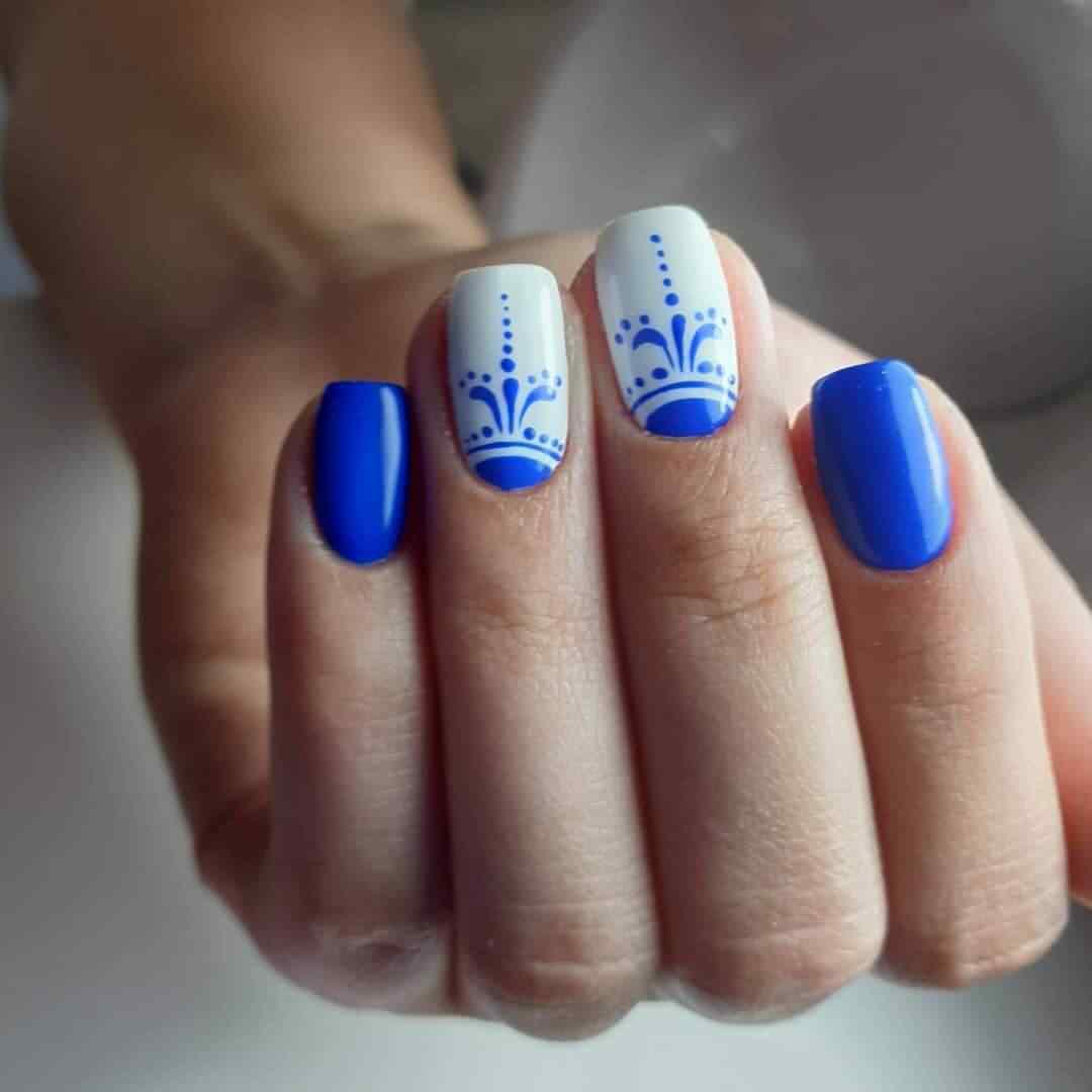 azul con blanco