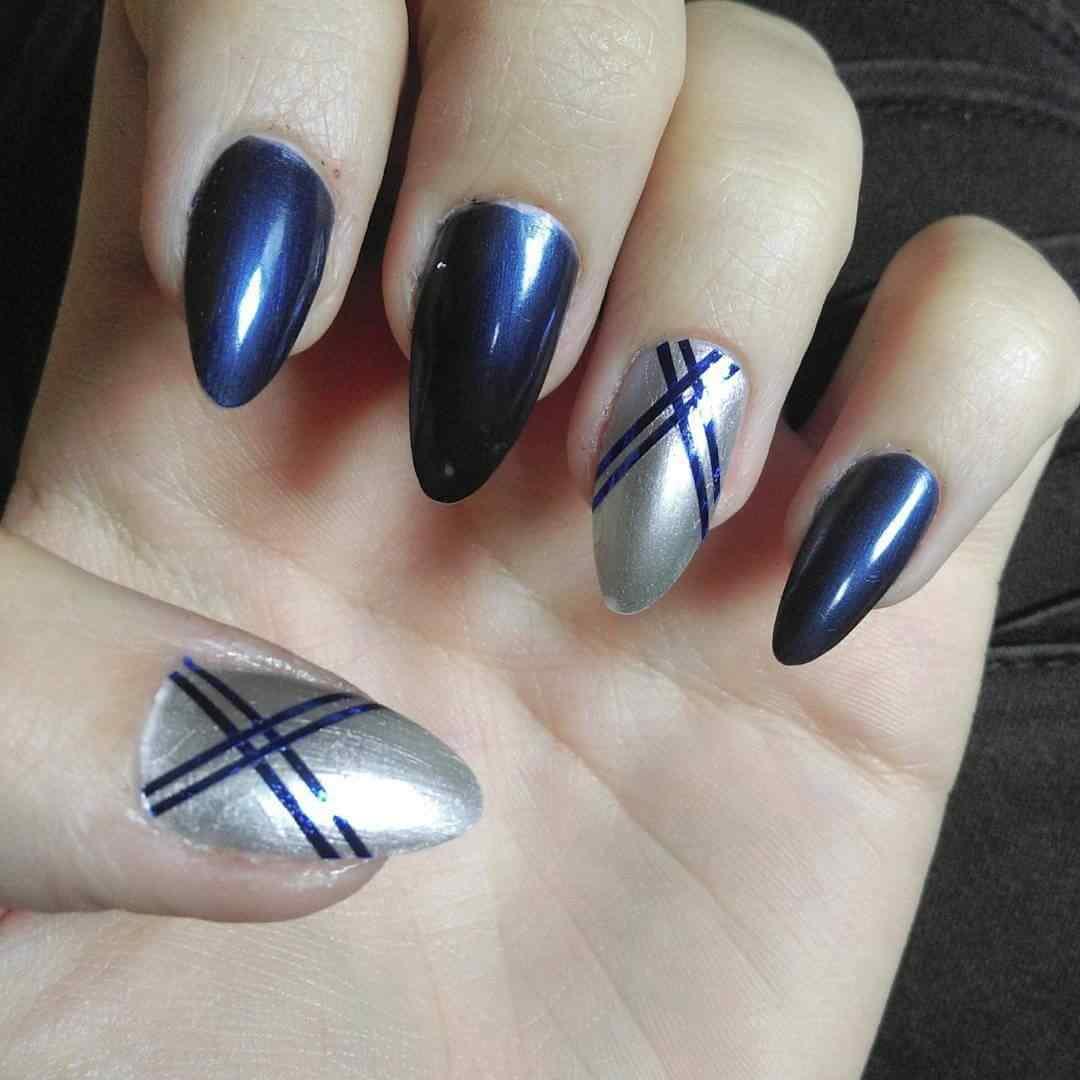 azul y plata en tonos satinados