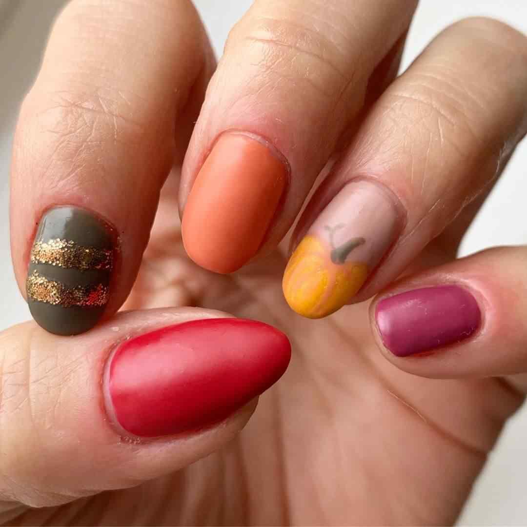 decoracion de uñas con calabazas