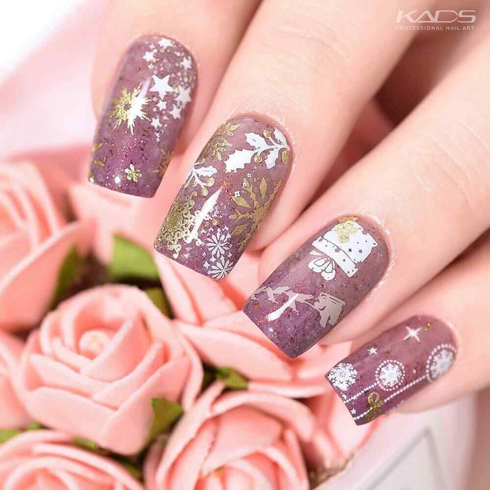 decoracion de uñas de navidad