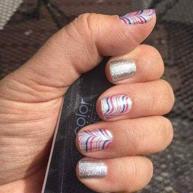 decoracion de uñas facil con lineas curvas
