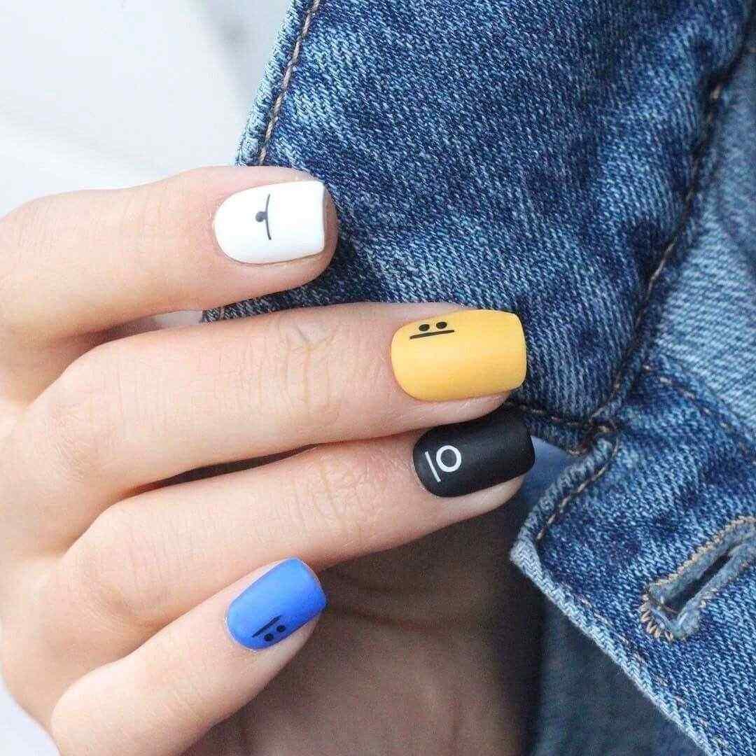 decoracion de uñas sencillas de colores