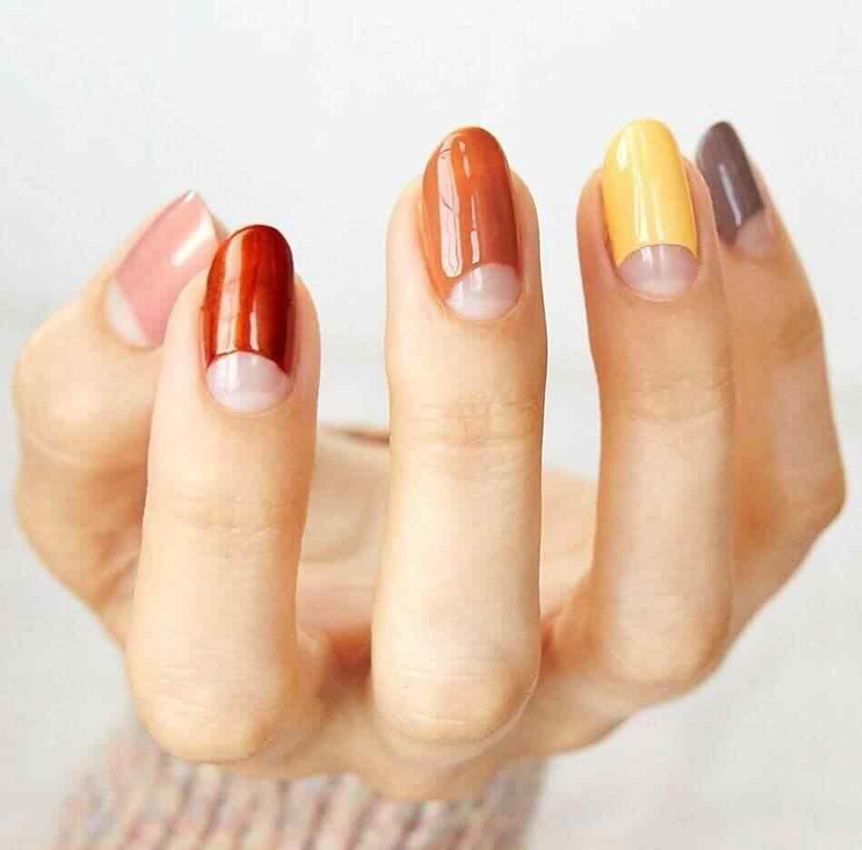decoracion de uñas sencillas en colores
