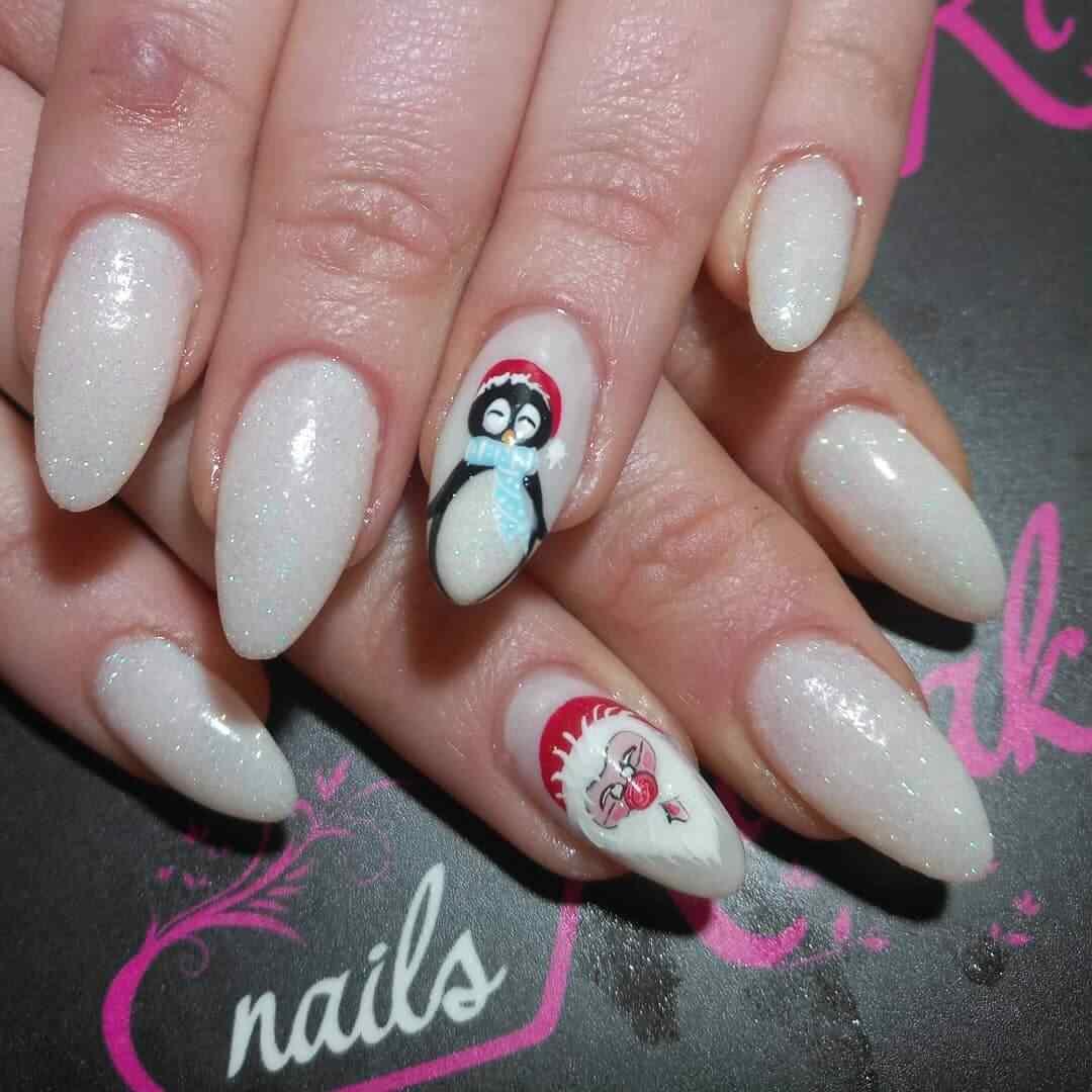 decoracion uñas de navidad para niñas