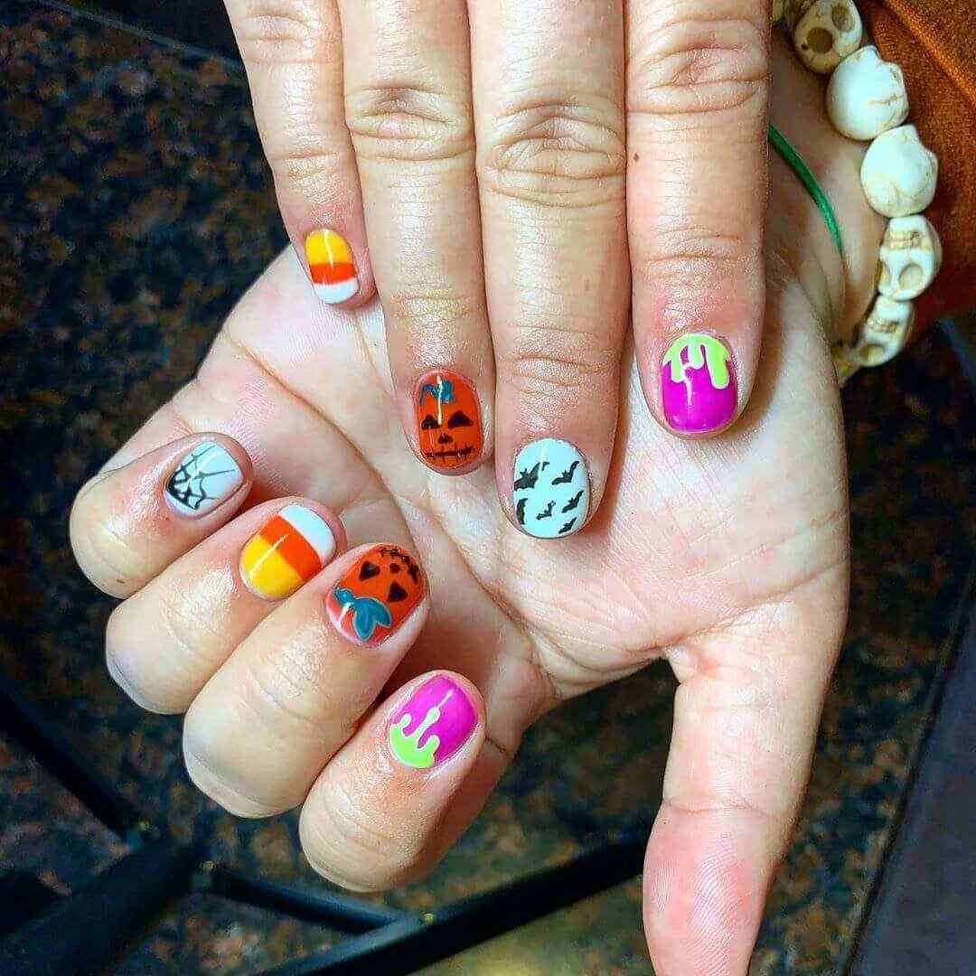 diseños de uñas de halloween
