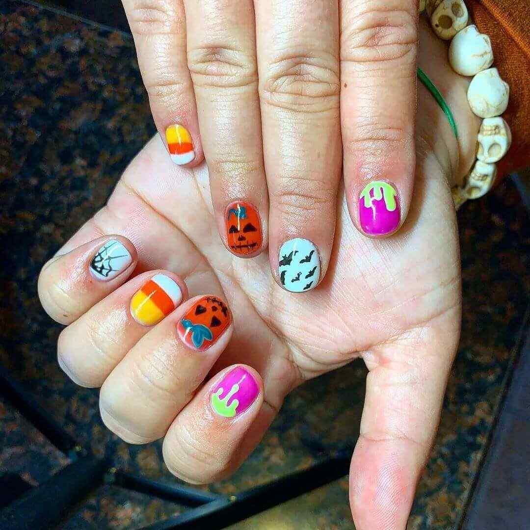 decorado de uñas para halloween