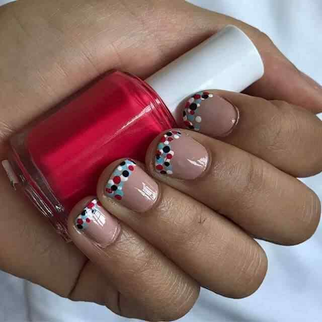 diseño de uñas facil francesa puntos