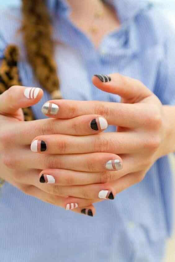 diseño de uñas facil con cintas