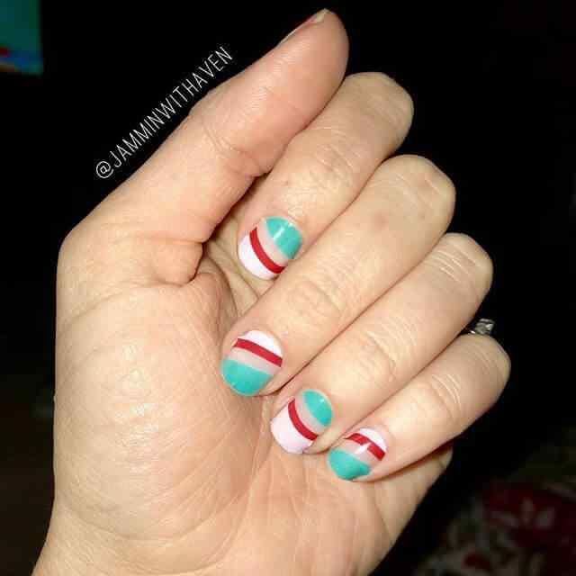 diseño de uñas facil con lineas