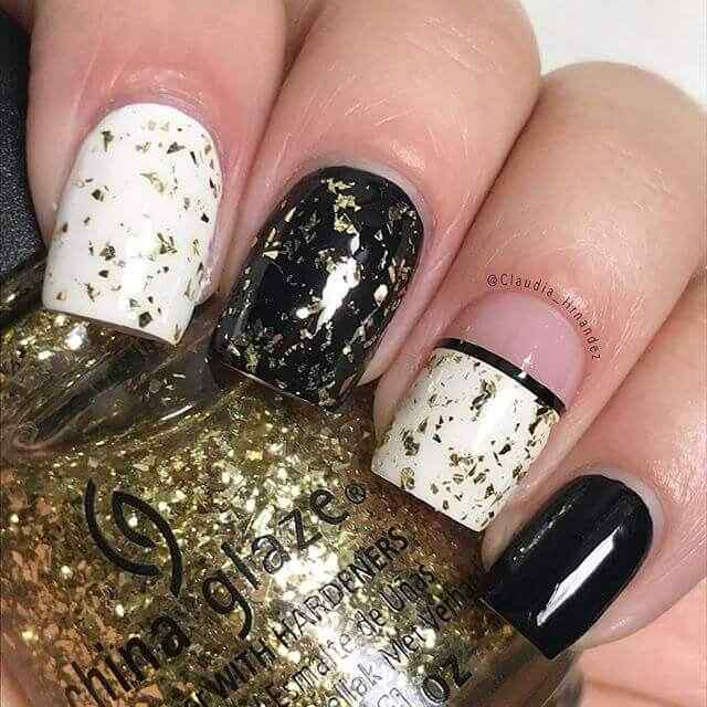 diseño de uñas facil elegante