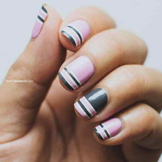 diseño de uñas facil en color pastel