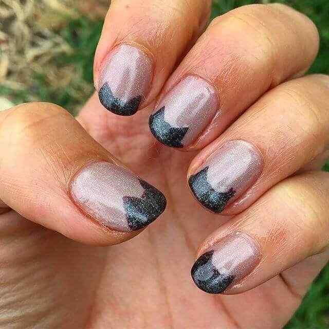 diseño de uñas facil negras